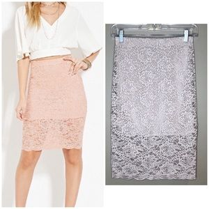 Forever 21 Lace Pencil Skirt, Small